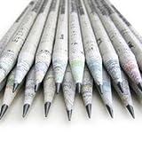 CHAVI lápices ecológicos -caja set de 50 unidades-2B 100% papel de periódico,pencil reciclado para escribir/dibujar/diseñar para oficina/escuelas o colegios.