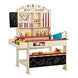 Baby Vivo Tienda de juguete para Niños 'Finn' con compartimento de hielo en Madera, Supermercado con Mostrador y Expositor lateral