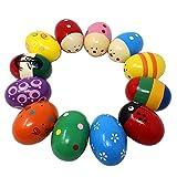 JOYIN Huevos de Madera Maracas Percusión Musical para Fiesta, Suministros para el Aula, Instrumento Musical, Rellenos de cestas, Búsqueda de Pascua