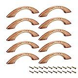 sourcing map - Perillas de madera (10 unidades, 65 mm, distancia de orificio, 91 mm, longitud de gabinete de muebles de cocina, tiradores para aparador y armario