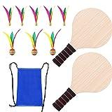 Raquetas de Tenis de Mesa,Juego de tenis de mesa,Raquetas de Ping Pong Profesional,Paleta de Pong de Roble,Tablero de Madera Maciza Gruesa,para Actividades al Aire Libre en Interiores