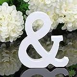 takestop - Letras del Alfabeto de Madera Blanca de 11 cm de Altura para decoración de Bodas o cumpleaños