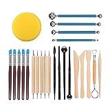 Tweal Herramientas de Escultura, 24 Piezas Cuchillo de Arcilla Barro Set de Herramientas de Modelado de Arcilla para Principiantes, para Escultura Manualidades,Bricolaje