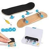 Fingerboard Finger Skateboards, Mini diapasón, Patineta de dedos profesional para Tech Deck Maple Wood DIY Assembly Skate Boarding Toy Juegos de deportes Kids Christmas Gift(Azul claro)