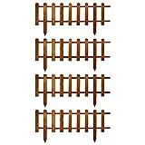 Floranica Valla Decorativa de Madera | Nueva versión 2021| de jardín | Patio | 3 Colores | impermeabilizada y Resistente a la Intemperie, Color:Marrón, Tamaño:30 cm Altura. 4x104 cm Longitud