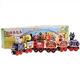 Juguete de tren magnético, modelo educativo de pequeño tren magnético de madera Juguetes educativos Trenes magnéticos Autos y accesorios para niños de 3 años en adelante