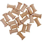 20 bobinas de hilo de madera vacías de 16 mm x 27 mm para hilo de bordar hilo de coser hilo de coser de hilo de coser Organización de la línea de pesca de color natural
