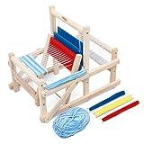 Lavievert Telar de madera multiartesanía, tejiendo a mano, tejiendo a mano, juguetes intelectuales para niños