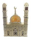 Cajón de madera Ramadán Decoración Led Eid Mubarak Calendario de Adviento Cuenta Regresiva Musulmán Islámica Adornos de Madera Decoración de Mesa Artesanía Ramadán