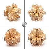 PAMRAY Juguetes Rompecabezas de Madera Set IQ Juguete Educativo 3D Cubo Juego Enigma para Niños Adolescentes Style C
