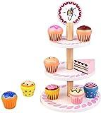 Cocinitas de Juguetes Accesorios Cupcakes Juguetes para Niños Tarta Alimentos Comida Juguete de Madera Utensilios de Cocina Juegos de Imitación Regalos Navidad Cumpleaños Juguetes Niña 3 4 5 6 Años