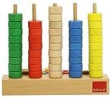 Goula Abacus Ábaco vertical madera, multicolor (51050) , color/modelo surtido