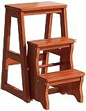 Escalera moderna multifuncional taburete biblioteca a biblioteca silla muebles Biblioteca taburete plegable silla escalera de madera hogar, 2 capas