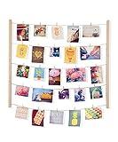 Umbra 315000-390 Hangit - Soporte para colgar fotos con listones de madera y cuerdas, multicolor