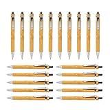 Growment Juego de bolígrafos de madera de bambú (20 unidades)