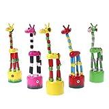 Ocobudbxw Funny Baby Kids Intelligence Desarrollo Educativo Madera Colorido Mecedora Jirafa Juguete