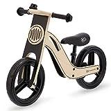 kk Kinderkraft Bicicleta sin Pedales UNIQ, Ultraligera, de Madera, 2+ Años, Negro, Unisex bebé, 83 x 40 x 54 cm
