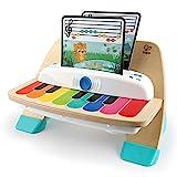 Baby Einstein, Hape Magic Touch Piano, juguete musical de madera, incluye 3 partituras y 6 canciones, a partir de 6 meses