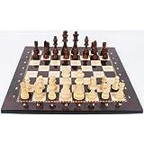 NLLeZ 1 Conjunto de ajedrez de Lujo Conjunto de Madera Ajedrez Medieval con Piezas de Tablero de ajedrez Tablero magnético Juego Figura Conjuntos Szachy Checker