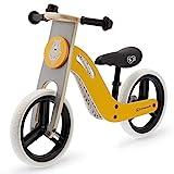 kk Kinderkraft Bicicleta sin Pedales UNIQ, Ligera, de Madera, 2+ Años, color Miel