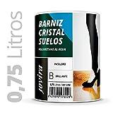 BARNIZ CRISTAL SUELOS POLIURETANO AL AGUA Para el cuidado y la decoración de madera. (750 ml)