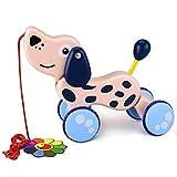 YoungRich Juego de Arrastre, Juguete Educativo para bebés Pequeño Niño Lindo Juguete Animal Palo de Arrastre para niños de 18 Meses en adelante (Perro)