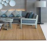 TIENDA EURASIA Alfombra de Bambú - Alfombras Fabricadas en Madera de Bambú Ecológica - Disponibilidad en 2 Colores - Ideal para Cualquier Estancia del hogar (Natural, 140 X 200 CM)