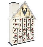 Wichtelstube Collection - Calendario de Adviento para rellenar, casa de caza con compartimentos XL, madera iluminada