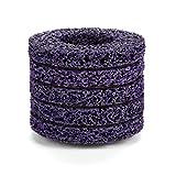 5 piezas 100 mm 60# Poly Strip Rueda Disco Abrasivo Grinders Herramienta Limpia para Eliminación de óxido/pintura/descamación - Púrpura y Oro