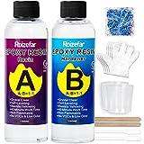 Resina Epoxi Ultra Transparente no tóxica 410g/380 ml, Proporción 1:1 para Bricolaje, Madera, Artesanía, Joyería, Suelos, Obras de Arte, Modelado, Mesas Creaciones Artísticas