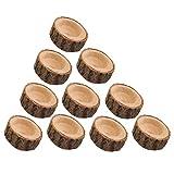 POFET - Juego de 10 portavelas de madera con forma de rama, portavelas de madera, para boda, Navidad, fiesta, spa (S)