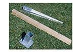Intermas M234581 - Poste madera valla clasica 7 x 7 x 80 cm