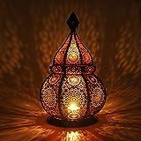 Gadgy  Farol Arabe (36 cm) l para Velas y Luces eléctricas l Interior y Exterior Decoración l Resistente al Viento l Estilo marroquí-árabe/Indio-Oriental l Hecho a Mano