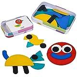 Juguetes Montessori para Niños 3+ Años Puzzle Infantiles 36 Piezas Rompecabezas + 60 Piezas Tarjetas Juegos Educativos Puzzle Juguetes de Madera Regalos para Niños Niñas 3 4 5 6 Años