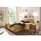 De madera maciza de cama de madera de 160 x 200 cm Cassetta de madera de roble maciza de madera maciza de roble 160 x 200