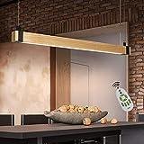 ZMH Lámpara Colgante Lámpara de techo de madera LED Pendiente Araña 19 W Luz y Altura Adjustable (3500-6500k) con Control Remoto para Comedor/Salón/Cafetería/Restaurante
