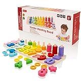 Milly & Ted Juego de números de recuento y combinación de Madera Juguete de Aprendizaje de Stem matemáticas para niños