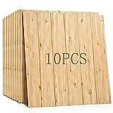K&F-qianzhi Antecedentes Panel de Pared 3D imitación del Grano de Madera Revestimiento de ladrillo Ladrillo Pelar Grupo Fondo de Pantalla de la Sala de Cocina decoración de la Pared de 10 Paquetes