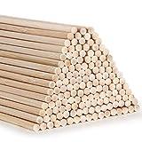 AUSYDE Varillas de bambú para manualidades, 30 cm, 150 unidades de 3 mm, madera redonda para manualidades, bastón de bambú de alta calidad