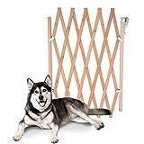 Litthing Barrera de Seguridad para Mascotas de Perros Pequeños Barrera Extensible Doméstica de Madera (82 * 110 cm)