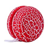 NUOBESTY Yoyó de madera para niños, 1 unidad, color rojo, juguete para niños, lindo yoyó para principiantes, 1 cuerda, 5 x 3, 5 x 5, 5 cm
