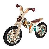 WOOMAX - Indian 12 Bici sin Pedales en Madera, Color Multicolor, 85369