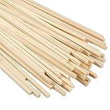 Pllieay 50 palillos cuadrados de bambú de 11.8 pulgadas, tiras de bambú, fuertes varillas de bambú natural para proyectos de manualidades