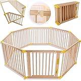 KIDUKU Parque de bebé XXL 8 Piezas Corralito plegable puerta incluida, forma individual