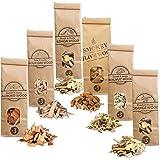 Smokey Olive Wood 6X 500 ml selección de virutas de Madera para Barbacoa y ahumar: Olivo, Almendro, encina, limonero, Naranjo y Nogal. Talla Nº3: 2-3cm, AHLNVW3-06-0.5L