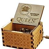 Cuzit Queen Caja de música, Greatest Hits Queen Bohemian Rhapsody Antiguo Tallado a Mano Caja Musical de Madera Caja de música Creativa de Madera artesanía Mejores Regalos para niños, Amigos