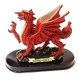 Figura de Madera de Resina de Plinto de Gales Dragon de 6 Pulgadas [wg287]