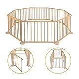 Parque para bebé – de madera – Plegable – Parque móvil – Valla para niños XXL – Escuela para jardín - Barrera de barrera para interior – Plegable – rectangular – Grande