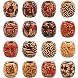 Bolas de Madera 500 g (Aprox.330 Piezas) Abalorios para Manualidades, Cuentas de Madera para Collares, Bolitas Perlas Accesorios para Hacer Pulseras DIY Pulsera Collar