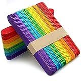 100 piezas Palos de Madera Palitos de Madera Colores para Manualidades, Bricolaje (150mm x 170mm)